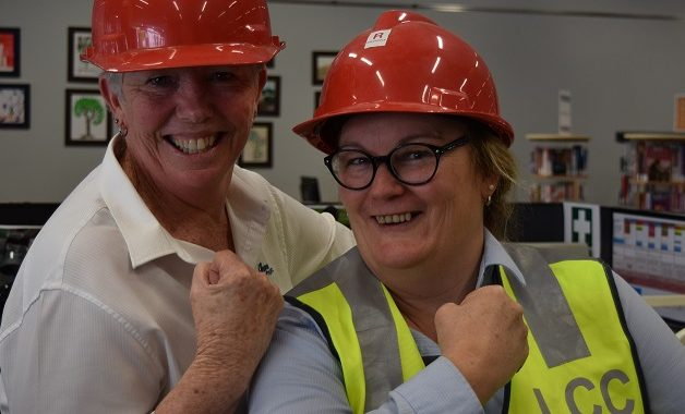 Library Staff ready for refurbishment project