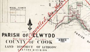Parish of Clwydd 1897 - Detail showing Browns Swamp