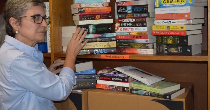 Miriam with new books
